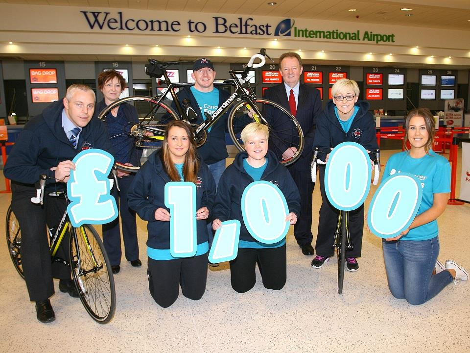 Belfast International Airport security team hit the road for Cancer Focus