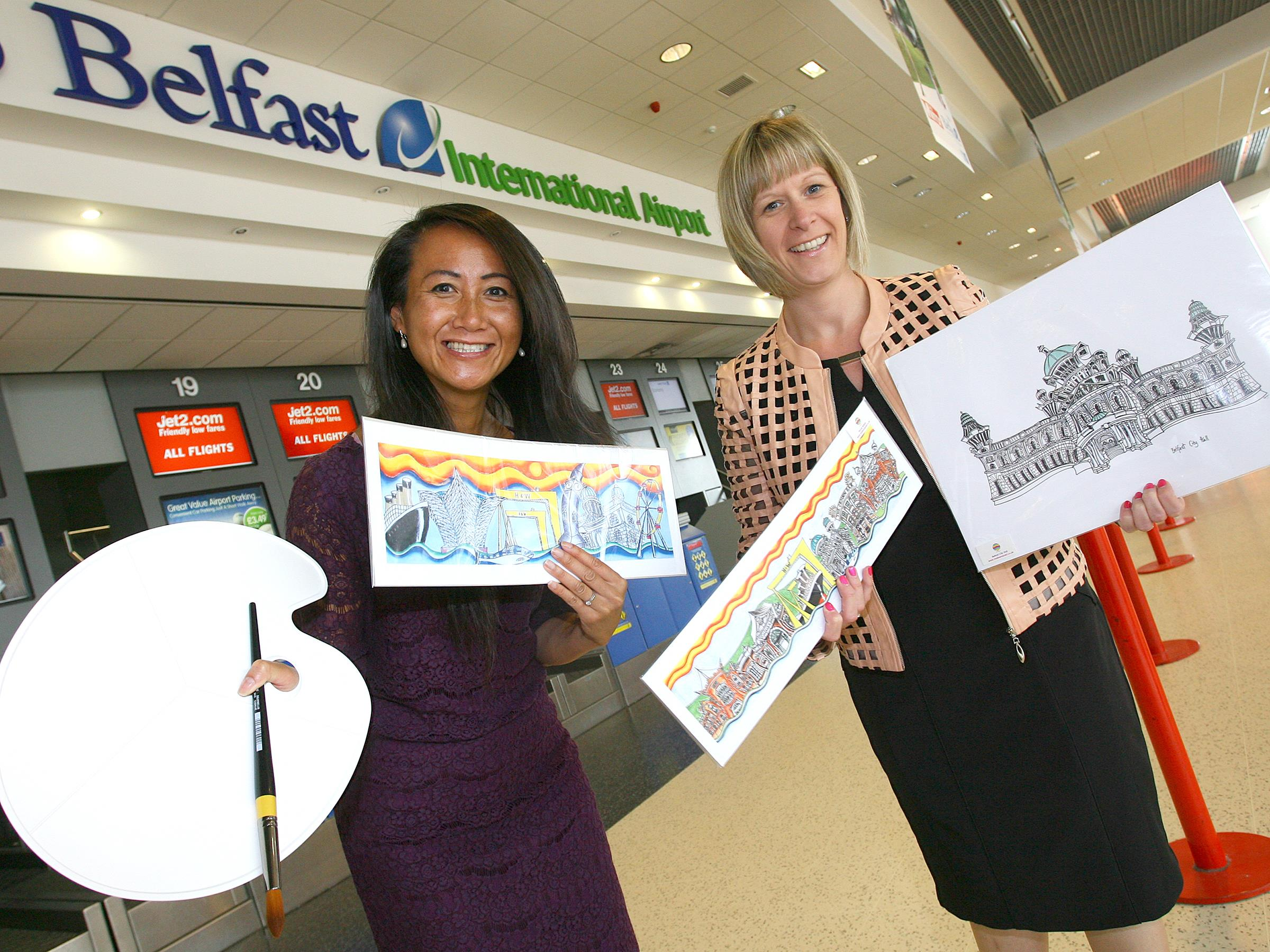 Airport takes off with local artists