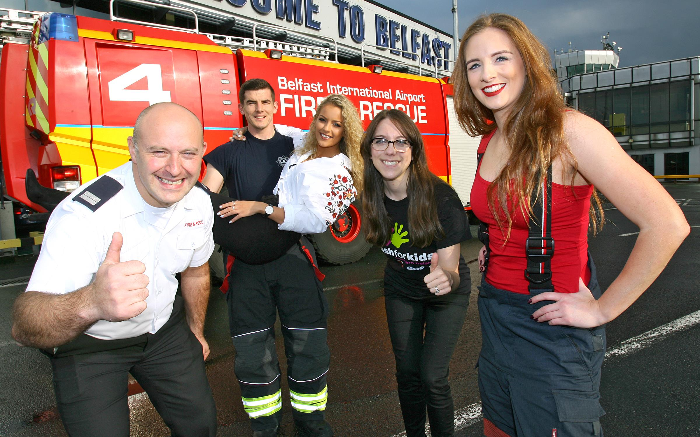 Airport firefighters get down to bare minimum for good cause