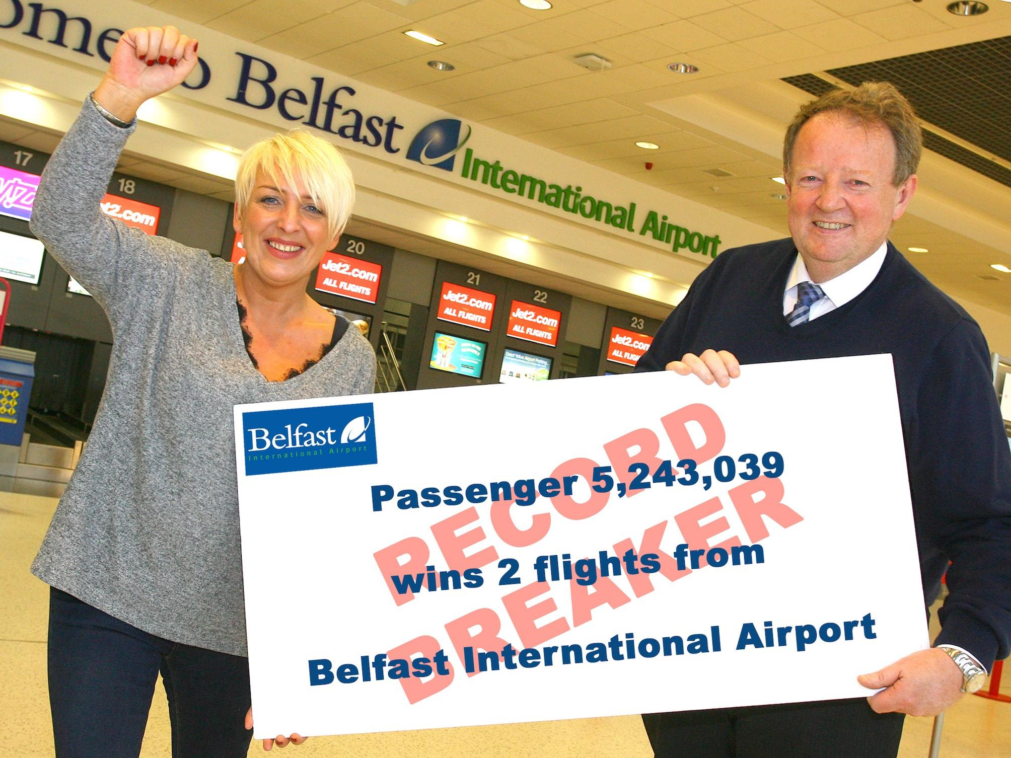 Record Breaking Passenger Numbers At Belfast International Airport