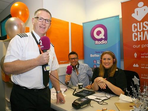easyJet and Q Radio team up to celebrate 20 years in Belfast International Airport