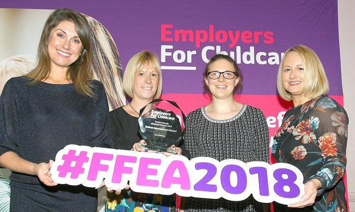 Belfast International Airport win the Family Friendly Employer Award