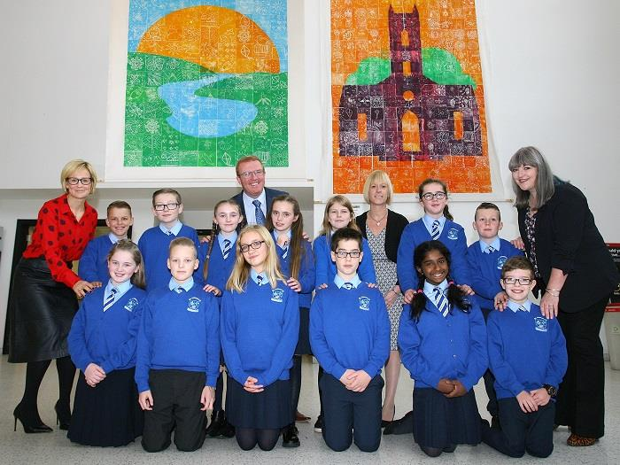 Local primary schools work together to create unique artwork for display in Belfast International Airport.