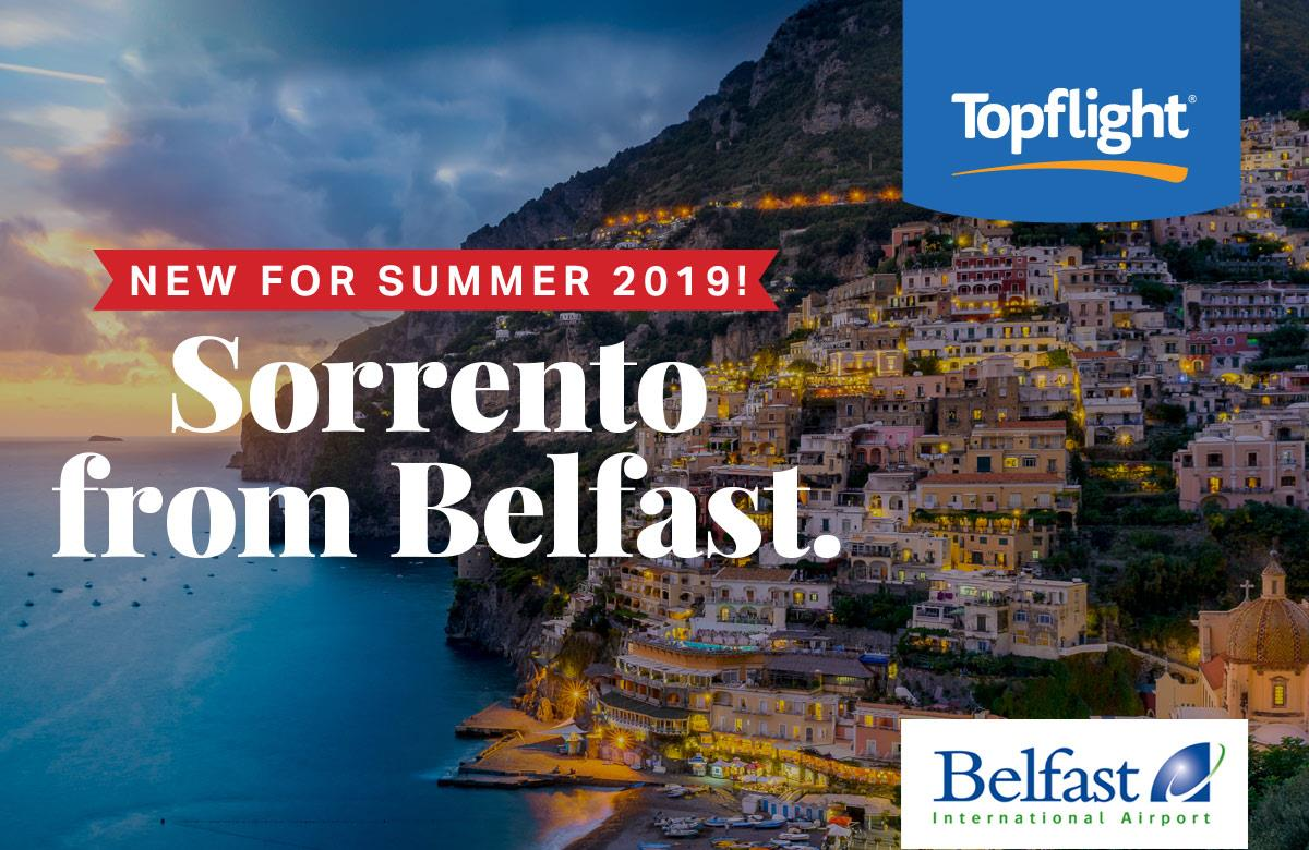 New! Topflight's Sorrento & Amalfi Coast - Direct from Belfast for Summer 2019