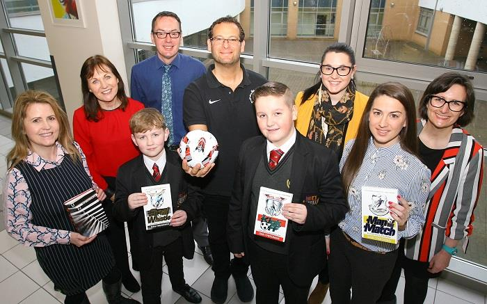 BFS link with BookTrust NI to bring author Dan Friedman on a visit to St Genevieve's High School and Belfast Boys Model School
